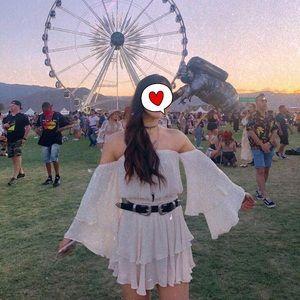 Other - Coachella outfit (white swim cover)